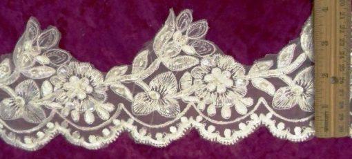 Jasmine Princess BeadedScalloped Lace Trimming 10cm