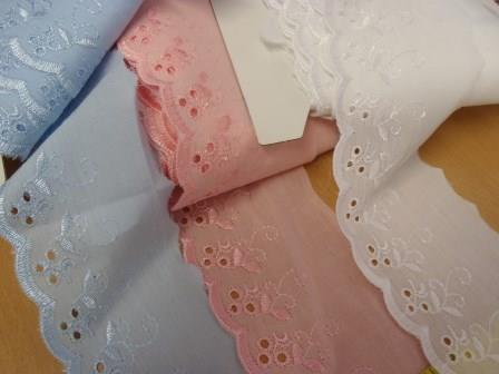 """3"""" Broderie Anglais Flat Lace Trim Code 210073"""