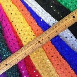Sequin Fabric 3mm Spotty Dotty Polyester Lurex Sequin