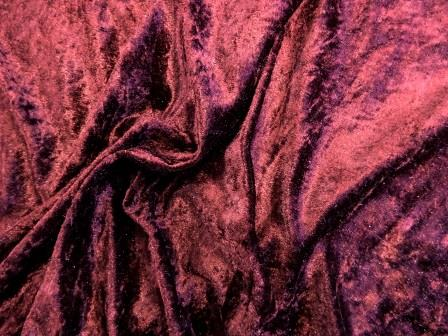 Crushed Velvet Fabric Wine