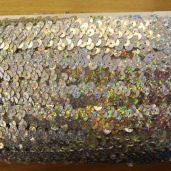 silver hologram stretch sequin