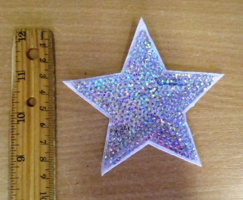 Motif Silver Hologram Sequin Star code MH002