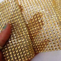Gold Diamante Trim 7654 11.5cm Wide
