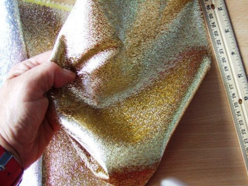 Heavy Lame Fabric Gold