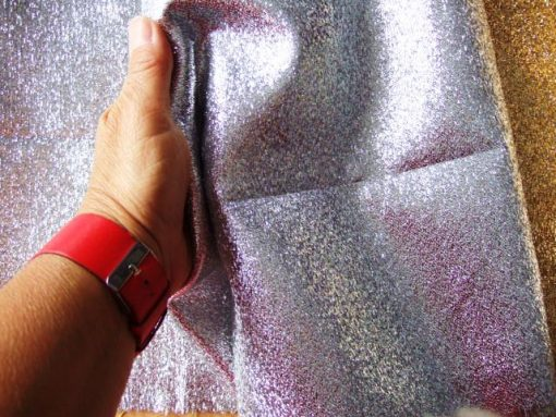 Heavy Lame Fabric Silver