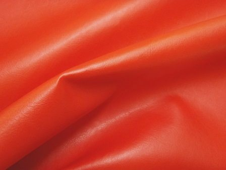 red leatherette