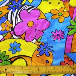 Satin Floral Print Fabric