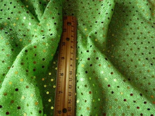 Spotty Dotty Polyester Lurex Sequin Lime