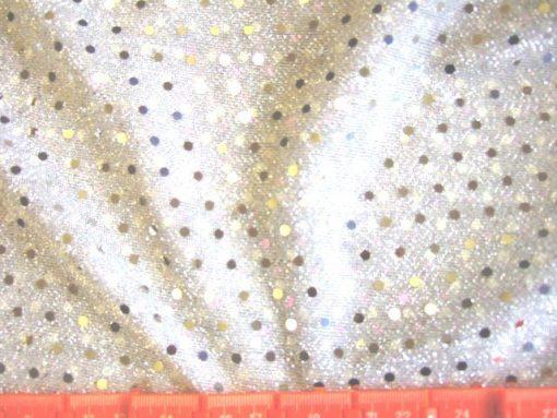 Spotty Dotty Polyester Lurex Sequin Silver