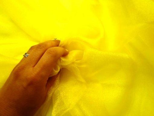 Voile Sugar Puff 100% Nylon Yellow