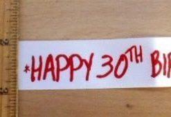 "Ribbon 1"" Wide Happy Birthday"