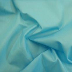 mid turquoise poly cotton