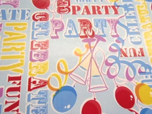 Party Time Blue PVC Tabling