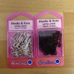 Corset Hooks and Eyes Extra Large