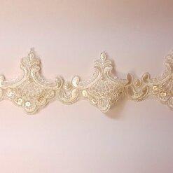 Ivory Loving Lace Beaded Trim