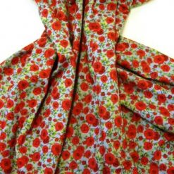 Polyester Cotton Chambray Fabric Climbing Roses