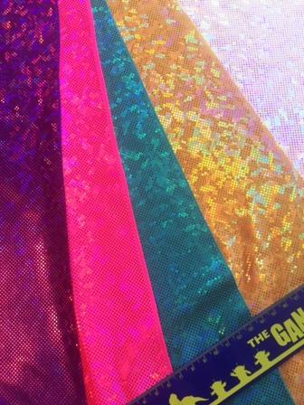 Lycra Hologram Fabric Shattered Glass