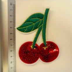 Cherry sequin motif