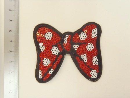 spotty bow sequin motif
