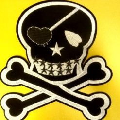 Skull and Cross Bones Sew On Motif