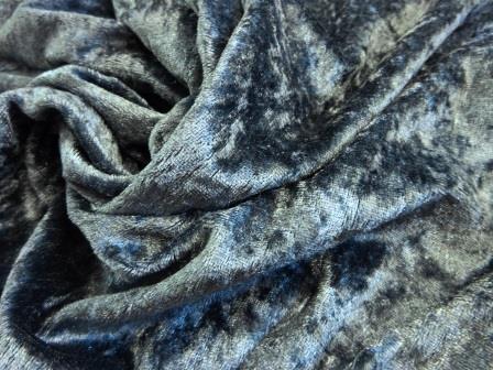 dark grey crushed velvet