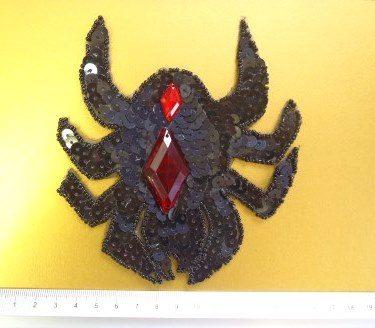 spider sequin motif