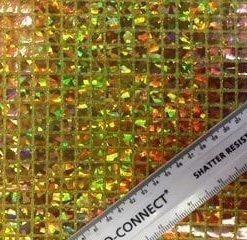 gold squares hologram