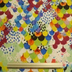 Lycra Patterned Fabric Jumble Scales
