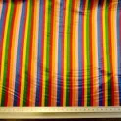 circus stripe printed satin