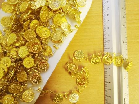 gold Coin Trimming By The Metre