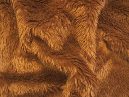 chestnut faux fur