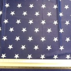 Lycra Patterned Fabric Navy Stars