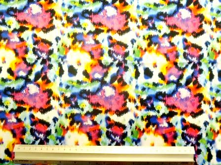 Lycra Patterned Fabric Passion Blur
