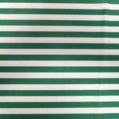 Green and white striped lycra