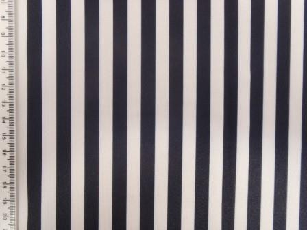 Navy and white striped lycra
