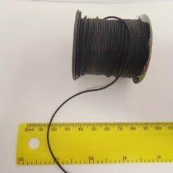Cord Thong Cotton 1mm black
