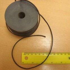 black 2mm thong cotton cord
