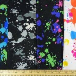 Lycra Patterned Fabric Paint Splats