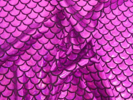 Cerise Fish Scales Mermaid Tails