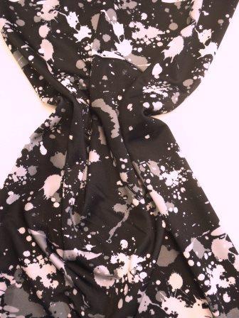 Lycra Patterned Fabric Paint Splats grey