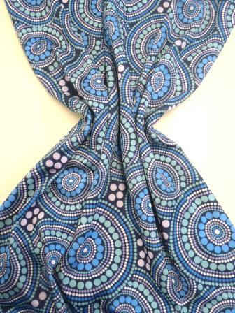 Lycra Patterned Fabric Spirograph Jade