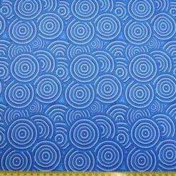 Lycra Patterned Fabric Blue Dorset Rock