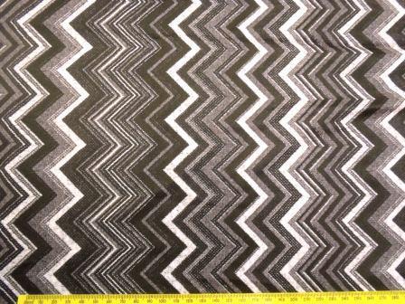 Lycra Patterned Fabric Grey Chevrons