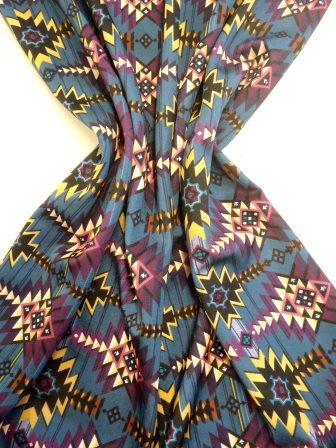 Lycra Patterned Fabric Hippy Hiawatha