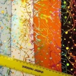 Lycra Sequin Fabric Scribble disc