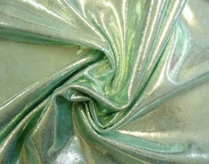 Mint foiling Lycra