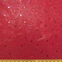 Lycra Foil Fabric Red Lustre spot
