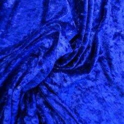 Crushed Velvet Fabric Royal