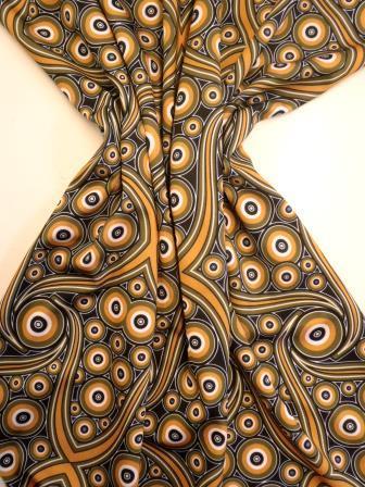 Lycra Patterned Fabric Zambezi mustard/olive