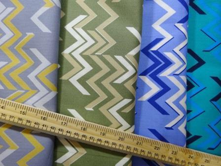 Cotton Fabric Chevrons